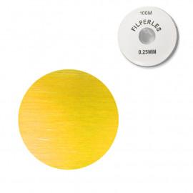 Bobine fil nylon coloré pour perles 100m - Jaune C079