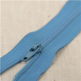 Fermeture fine Polyester N°2 couleur Bleu caraïbes