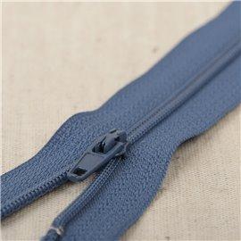 Fermeture fine Polyester N°2 couleur bleu minéral