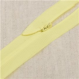 Fermeture invisible non séparable ajustable - jaune primevere
