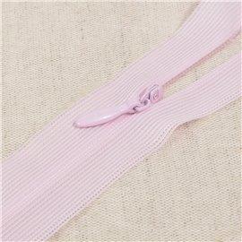 Fermeture invisible non séparable ajustable - rose layette