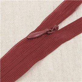 Fermeture invisible non séparable ajustable - rouge beaujolais