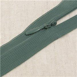 Fermeture invisible non séparable ajustable - vert sapin