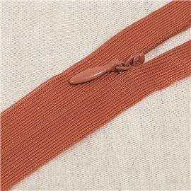 Fermeture invisible non séparable ajustable - orange rouille