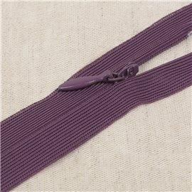 Fermeture invisible non séparable ajustable - violet volubili