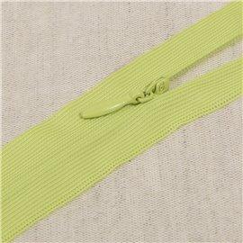 Fermeture invisible non séparable ajustable - poivre vert