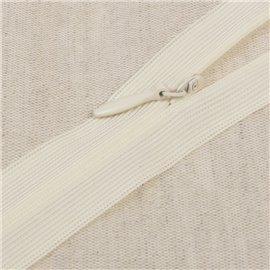 Fermeture invisible non séparable ajustable - ivoire