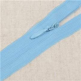 Fermeture invisible non séparable ajustable - bleu turquoise