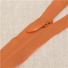 Fermeture invisible non séparable ajustable - orange