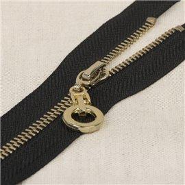 Fermeture unie non séparable zip rond - noir