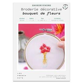 French Kits Broderie décorative Bouquet de fleurs