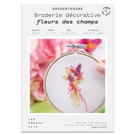 French Kits Broderie décorative Fleurs des champs