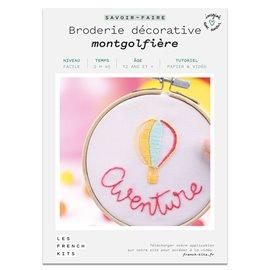 French Kits Broderie décorative Montgolfière