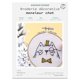 French Kits Broderie décorative Monsieur Chat
