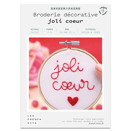 French Kits Broderie décorative Joli Cœur