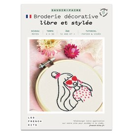 French Kits Broderie décorative Femme Libre
