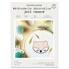French Kits Broderie décorative Renard