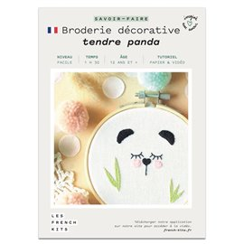 French Kits Broderie décorative Panda