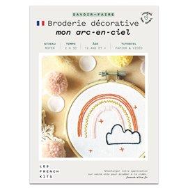 French Kits Broderie décorative Arc en ciel