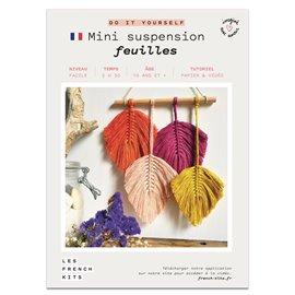 French Kits DIY Macramé Mini-Suspension 4 Plumes