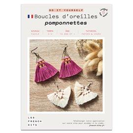 French Kits DIY Macramé Boucles d'oreilles Pompons