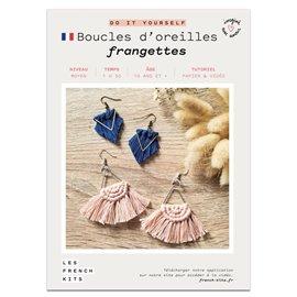 French Kits DIY Macramé Boucles d'oreilles Franges