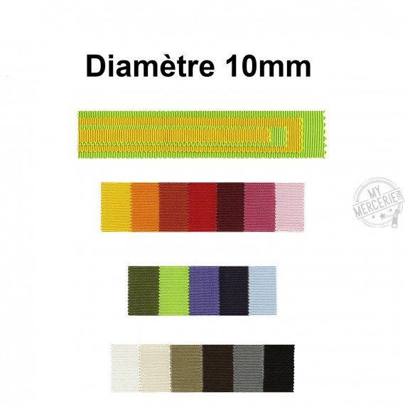 Ruban gros grain 100% coton 10mm vendu au mètre