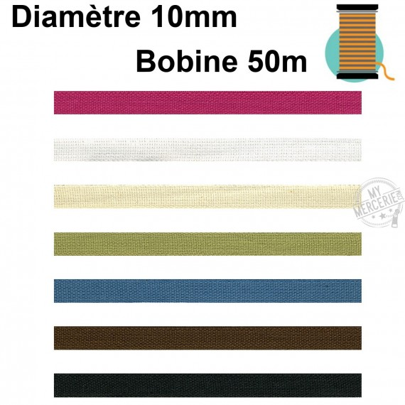 Disquette 50m ruban toile unie 10mm