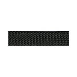 Disquette Tresse simili cuir noir