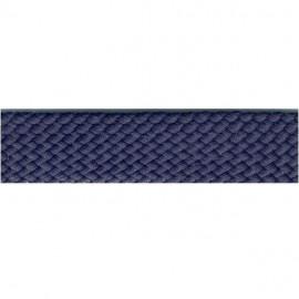 Disquette Tresse simili cuir bleu marine