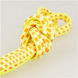 Bobine 25m Elastique rectangle 6 mm orange et jaune fluo