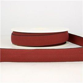 Bobine 22m Elastique multicolore 25 mm Rouge bourgogne
