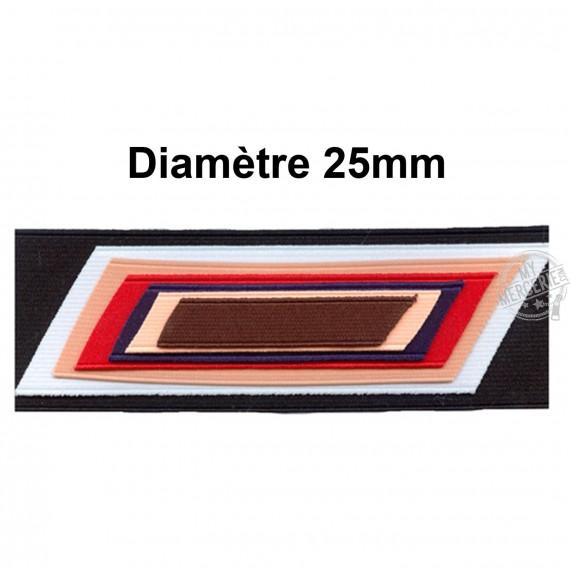 Elastique cotelé polyester 25mm vendu au mètre