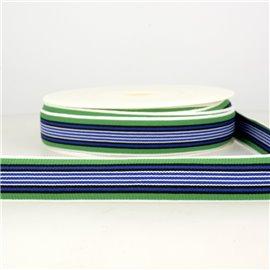 Bobine 22m Elastique multicolore 25 mm Bleu et multicolore