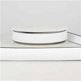 Bobine 22m Elastique multicolore 25 mm Blanc