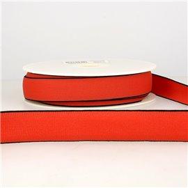 Bobine 22m Elastique multicolore 40 mm Rouge