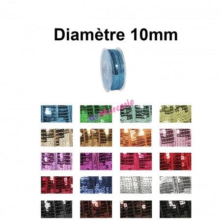 Galon paillettes 10mm vendu au mètre