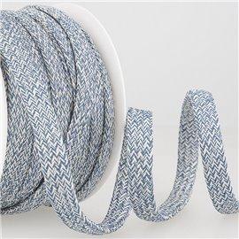 Bobine 25m Tresse chinée tubulaire 12 mm Bleu marine
