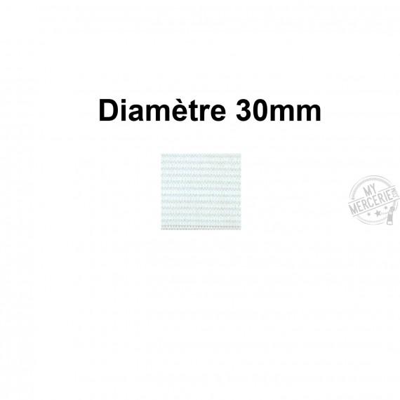 Elastique 30 mm indémaillable blanc au mètre