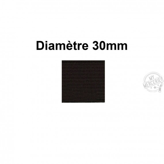 Elastique 30 mm indémaillable noir au mètre