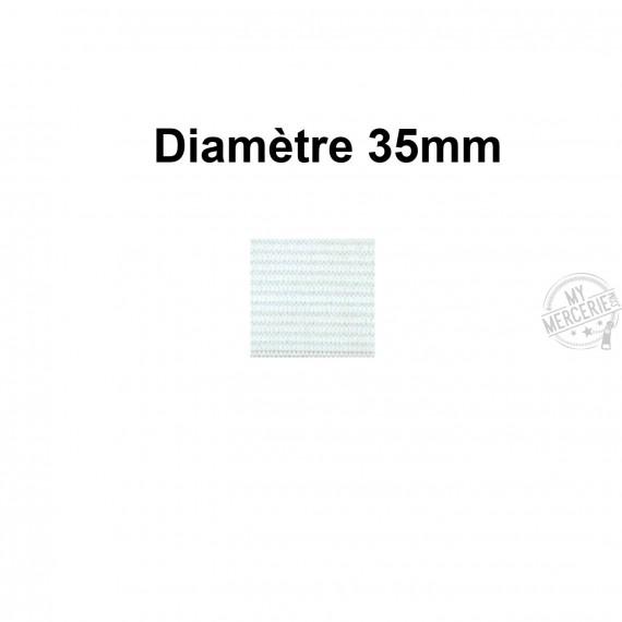 Elastique 35 mm indémaillable blanc au mètre