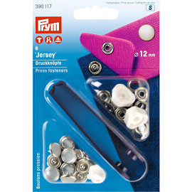 Boutons pressions Jersey laiton calotte perle 12 mm