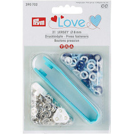 Prym Love boutons pressions JerseyColor laiton 8mm