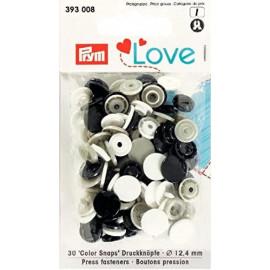 Prym Love Boutons pression plastique 12.4mm marine/gris/blanc