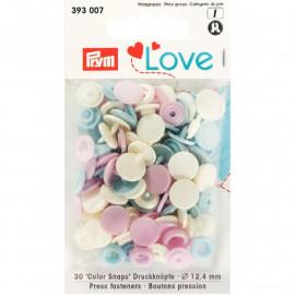 Prym Love Boutons pression plastique 12mm