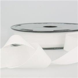 Disquette 25m Serge coton Blanc