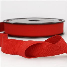 Disquette 25m Serge coton Rouge pale