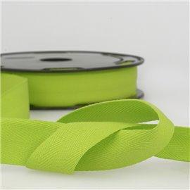 Disquette 25m Serge coton Beige vert