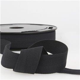 Disquette 25m Serge coton Noir