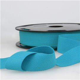 Disquette 25m Serge coton Bleu acier